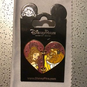 NWT Beauty and the Beast Heart Pin